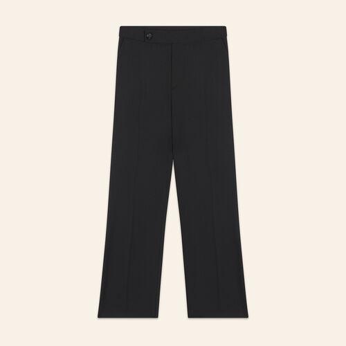 Formal wool trousers : Pants & Jeans color Black 210