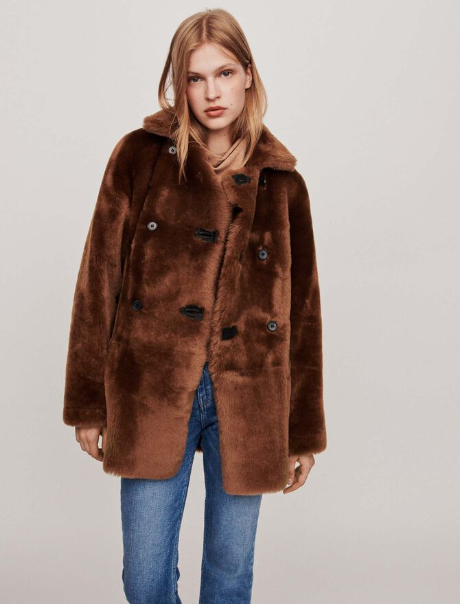 Canadian-style reversible shearling - Coats & Jackets - MAJE