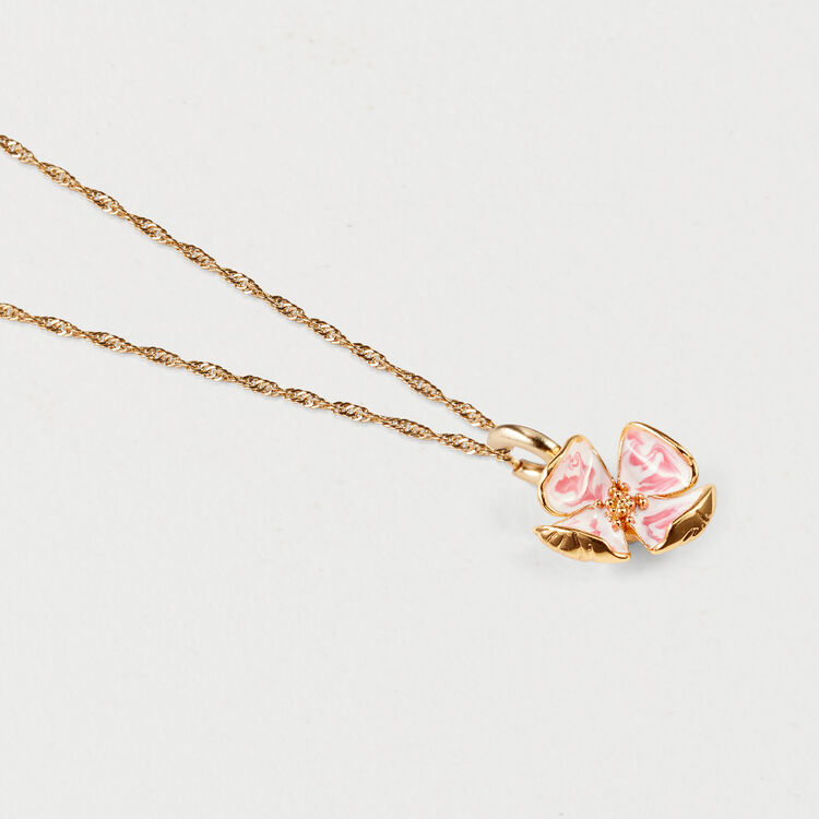Naza pink flower necklace shoes accessories maje pink flower necklace shoes accessories color gold mightylinksfo