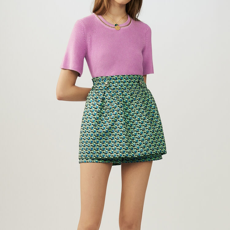 Jacquard cropped skirt : Skirts & Shorts color Jacquard