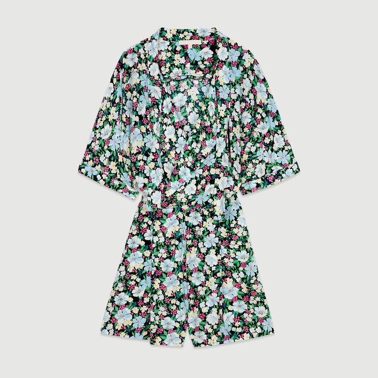 Romper in floral print : Jumpsuits & Rompers color Printed