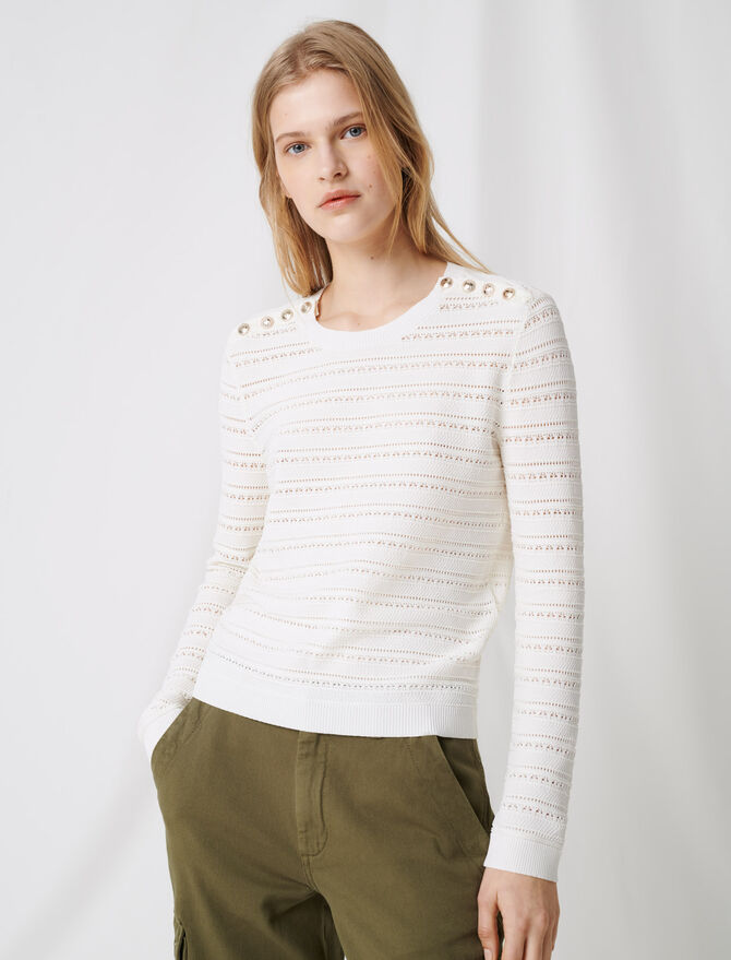Jumper with intricate button details - Sweaters - MAJE