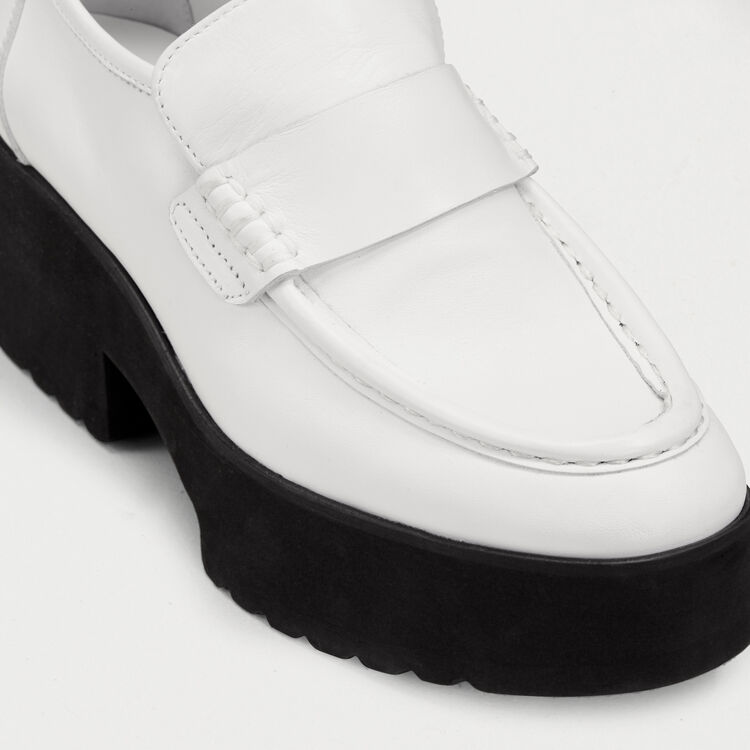 9bd498e617b FLATZO Leather platform loafers - Shoes   Accessories - Maje.com