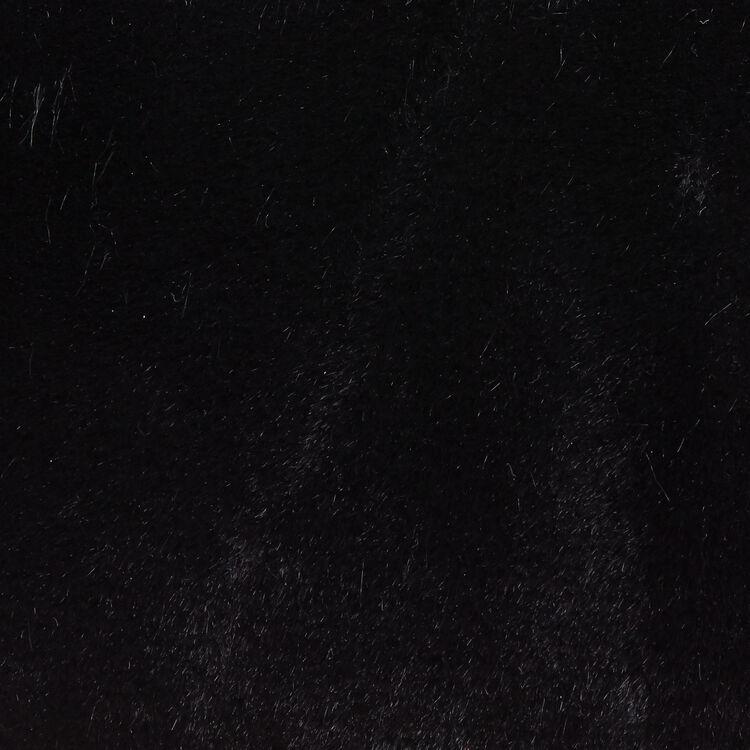 Faux-fur evening handbag : LDance color Black 210