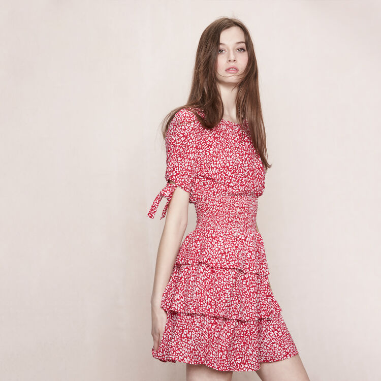Leopard-print dress in crepe : Spring Summer Precollection color