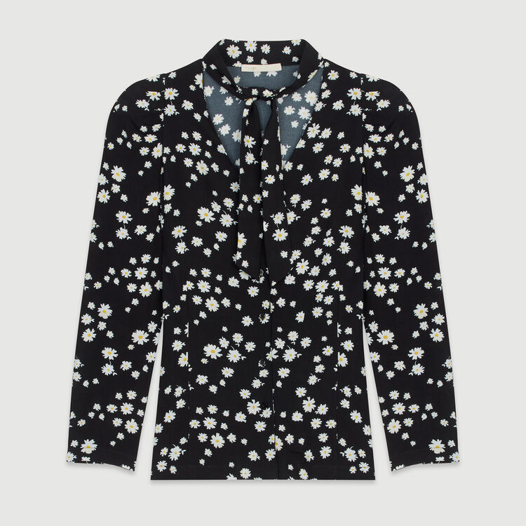 Printed shirt with lavalier : Tops & T-Shirts color Printed