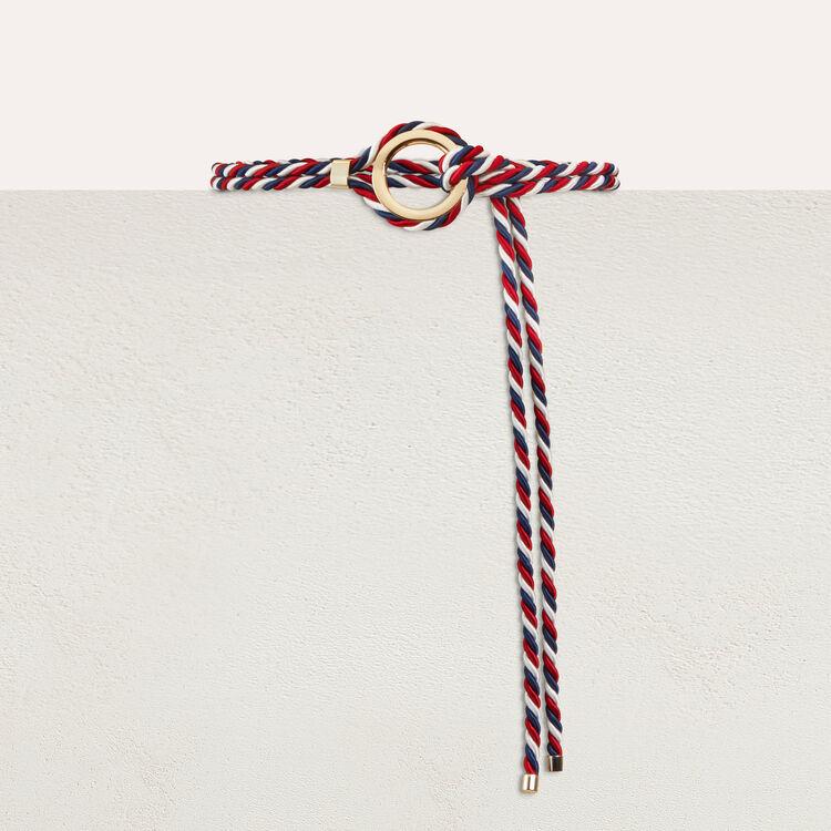 Lurex cord belt : Shoes & Accessories color Multico