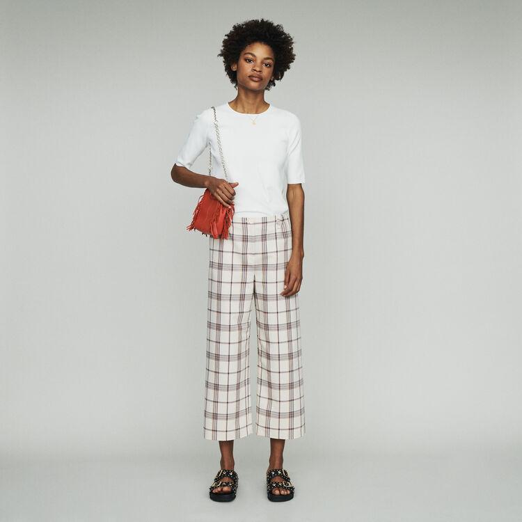 Wide leg plaid pants : Pants & Jeans color CARREAUX