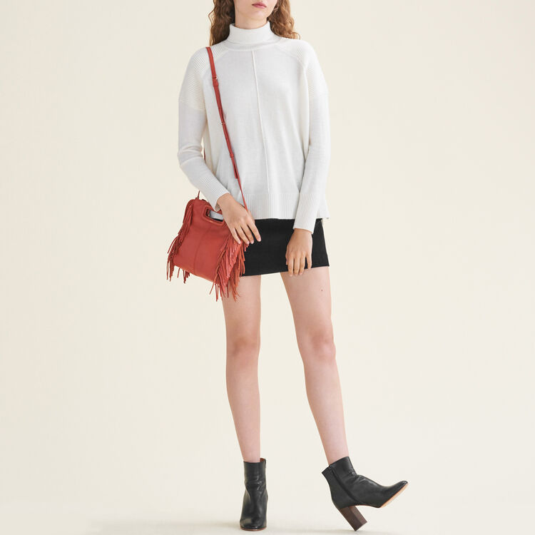 Cashmere roll-neck jumper : Sweaters color Ecru