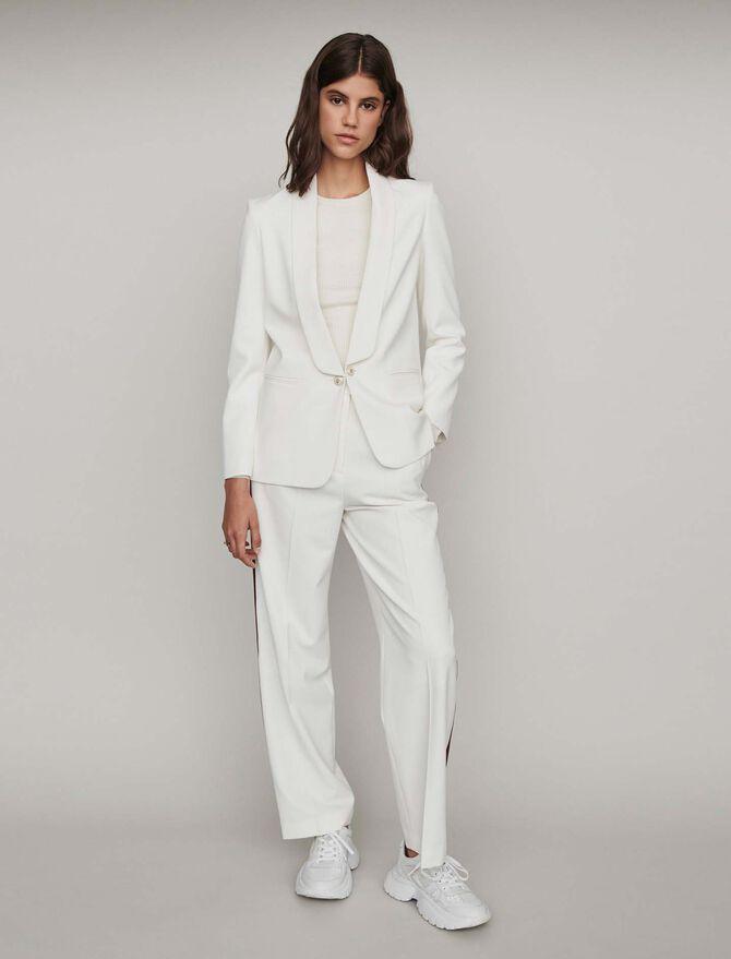 Straight-cut buttoned shawl lapel jacket - Coats & Jackets - MAJE