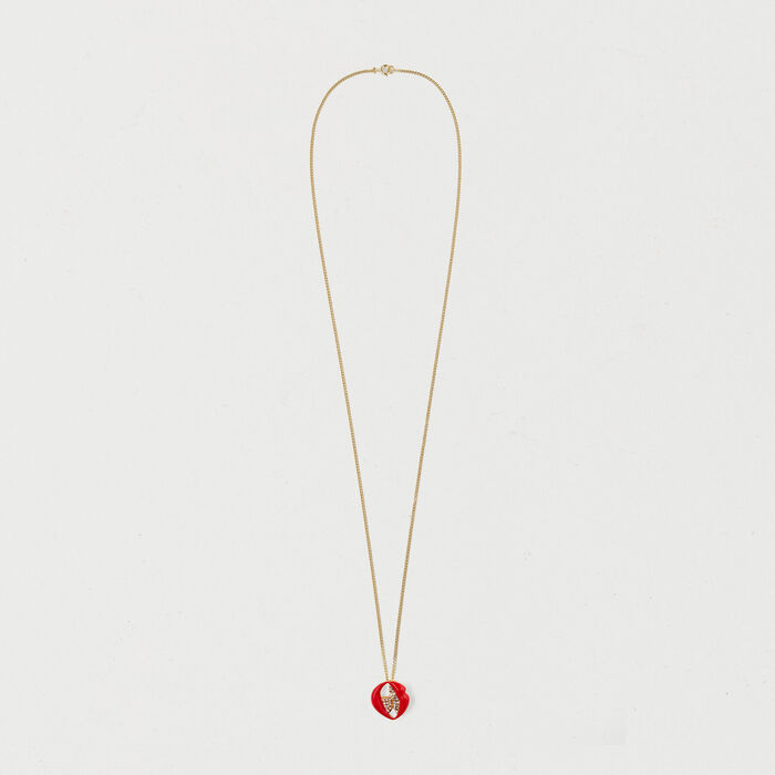 Necklace with mouth medallion : Jewelry color GOLD