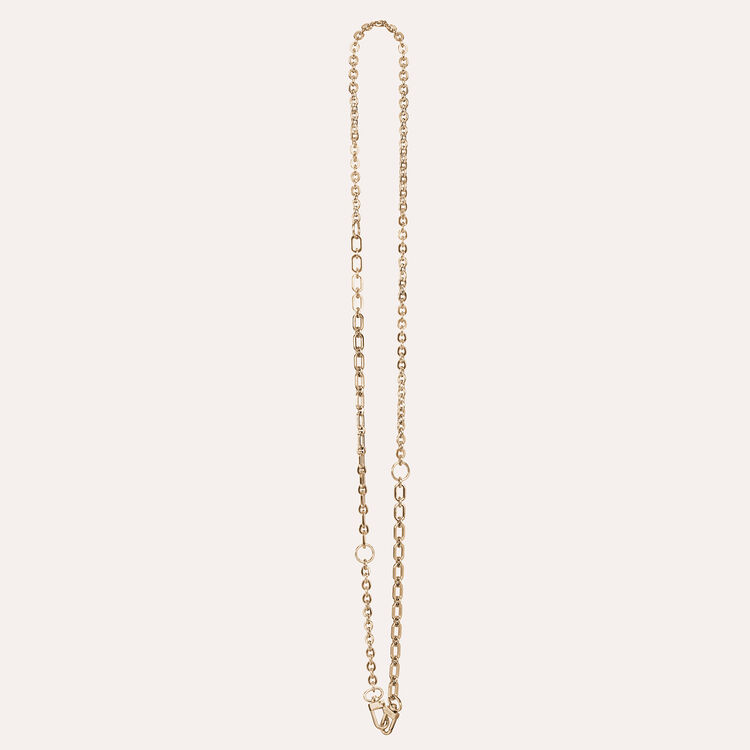 Gold detachable chain for handbag : Straps color GOLD