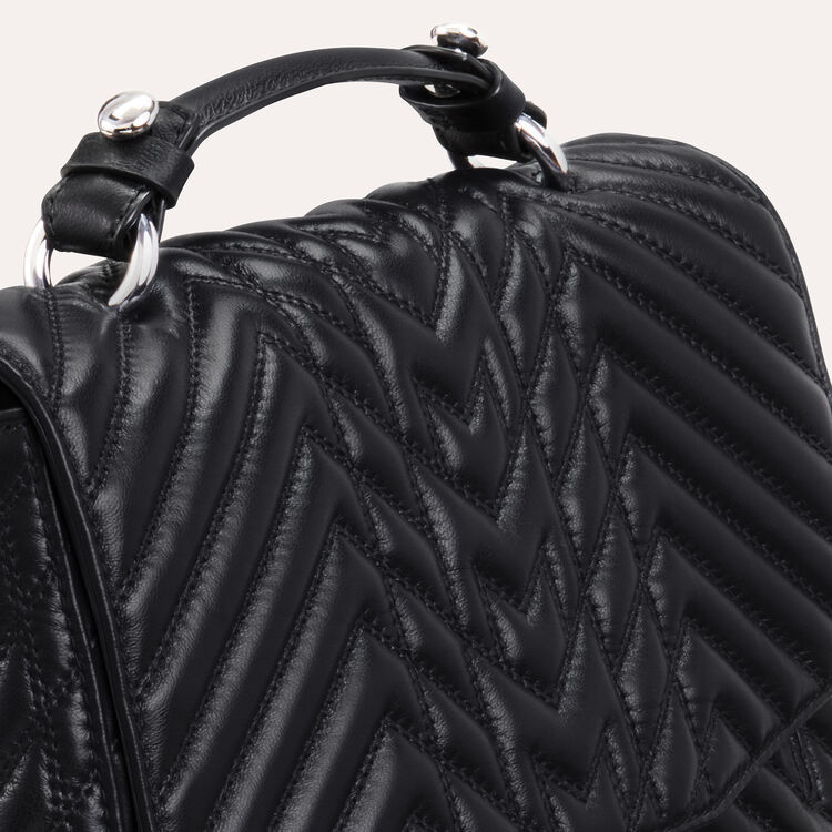 Mini satchel in quilted leather : LDance color Black 210