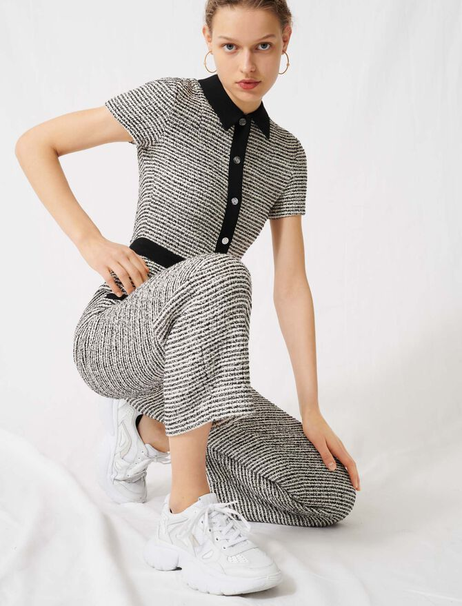 Tweed-style jumpsuit - Jumpsuits & Rompers - MAJE
