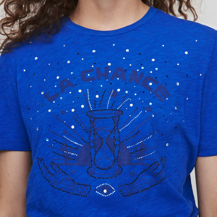 Embroidered tee shirt : Tops & T-Shirts color Blue