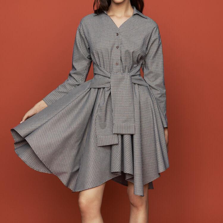 1ba08af598e6f Dresses true Shirt dress in houndstooth print   Dresses color CARREAUX