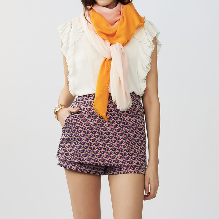 Tie and dye M printed : Scarves color Two-Tone