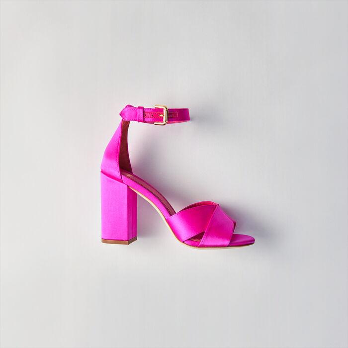 Heeled Sandals : Shoes color Fluorescent Pink