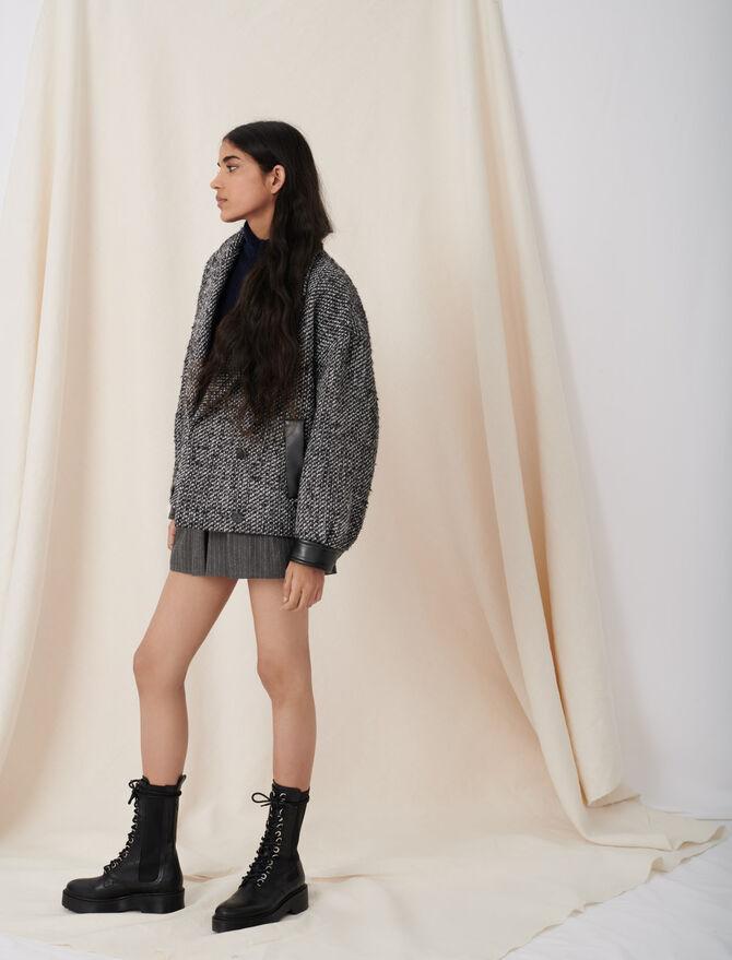 Marl blouson-style coat -  - MAJE