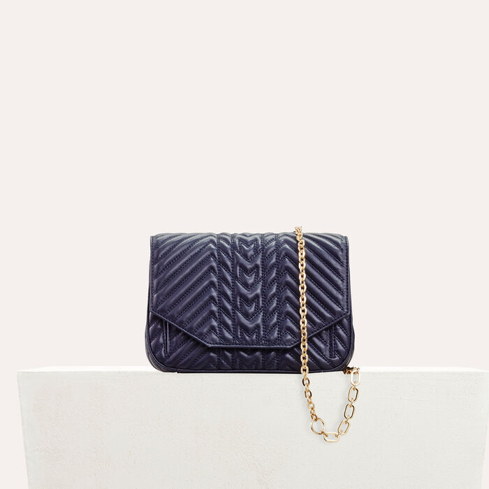 Quilted leather evening bag    : All bags color Navy
