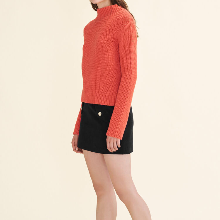 Chunky knit jumper : Sweaters color Orange