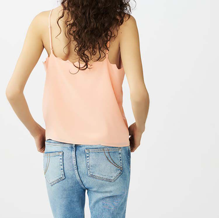 Crepe Caraco camisole : Tops & T-Shirts color Pink