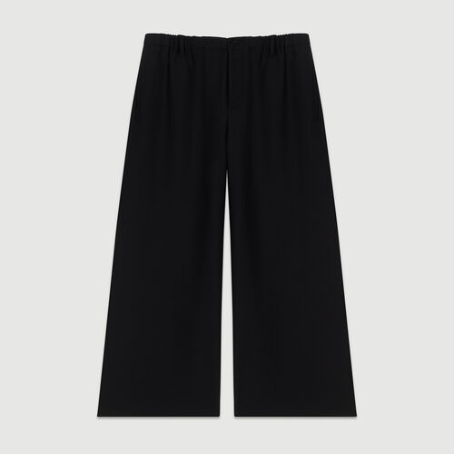 Wide-legged trousers : Pants & Jeans color Black 210
