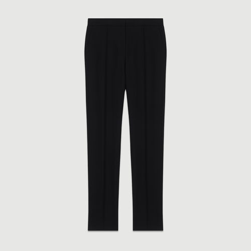 Straight suit pants : Pants & Jeans color Black 210