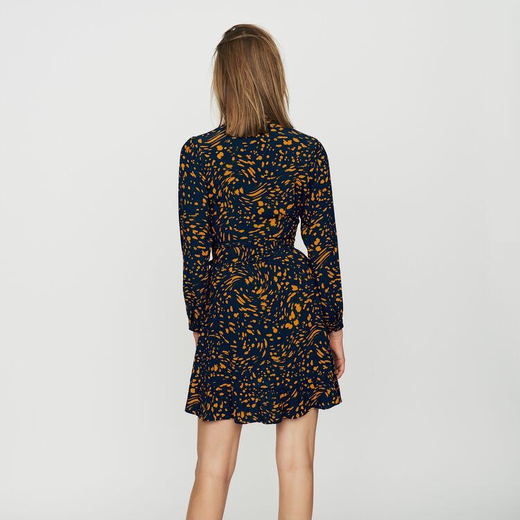 Leopard wrap dress : Dresses color PRINTED