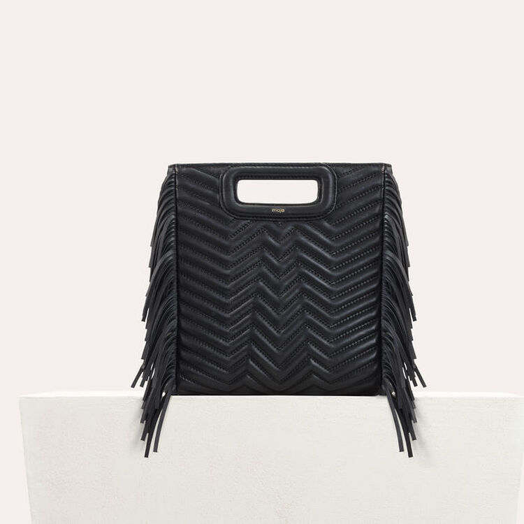 Quilted leather M bag : M Bags color Black 210