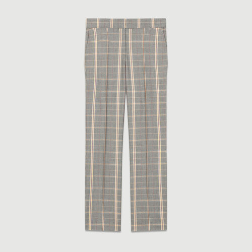 Straight checkered pants : Pants & Jeans color CARREAUX
