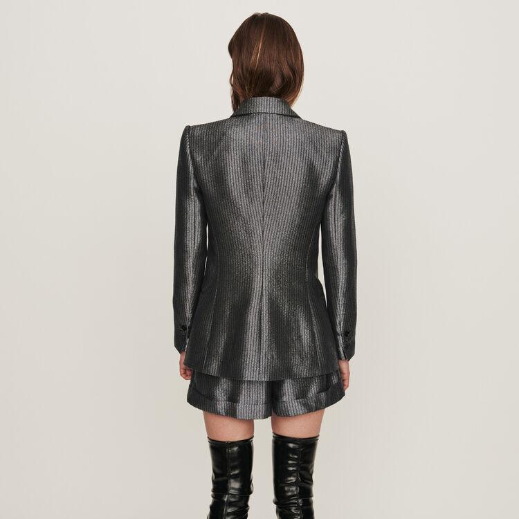 Lurex jacket : Coats & Jackets color Silver