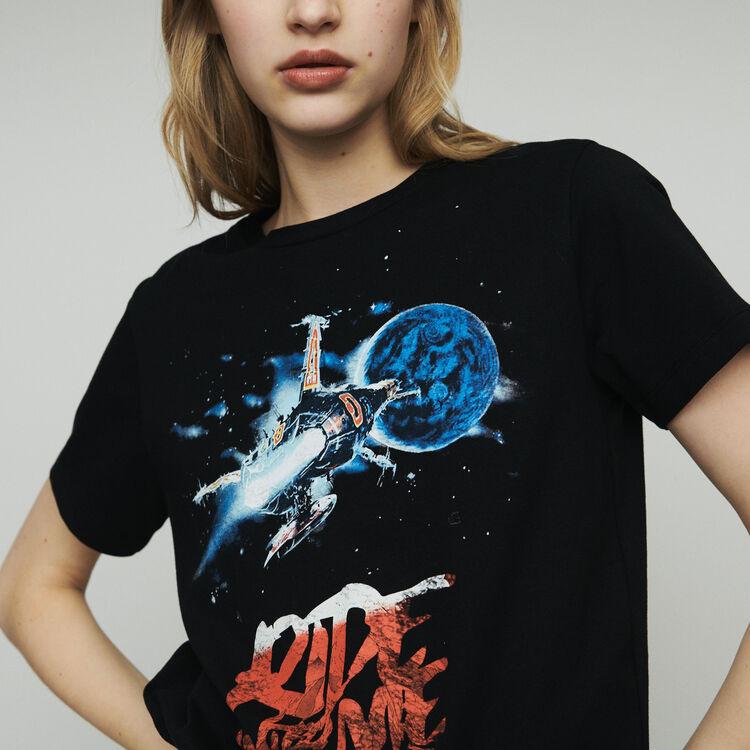 Printed T-shirt : Tops & T-Shirts color Black 210