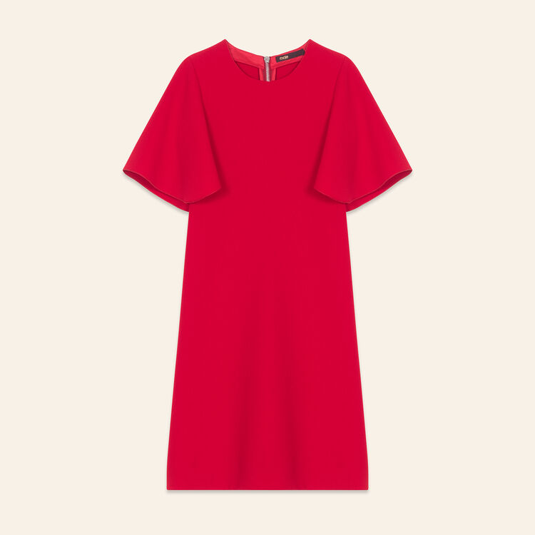 Butterfly sleeve dress : Dresses color Red