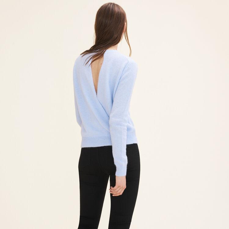 Backless angora jumper - Sweaters - MAJE
