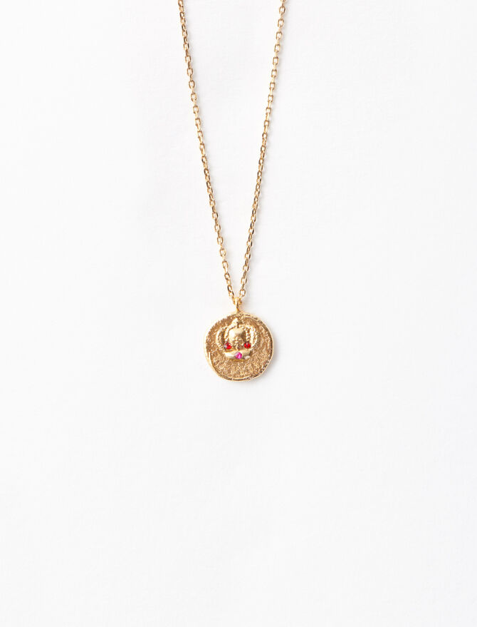"""Ma Reine"" gold-plated necklace. -  - MAJE"