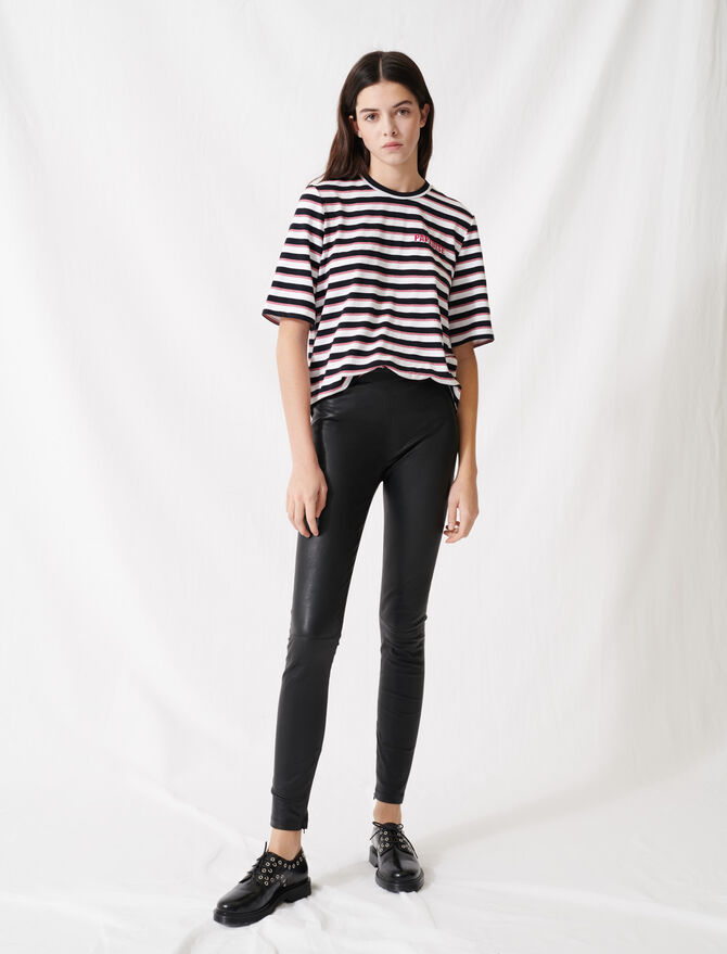 High waisted leather legging - Pants & Jeans - MAJE
