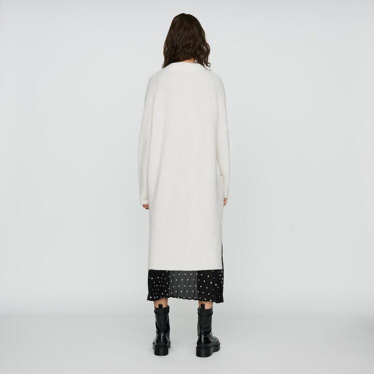 Long oversized cardigan : Sweaters color ECRU