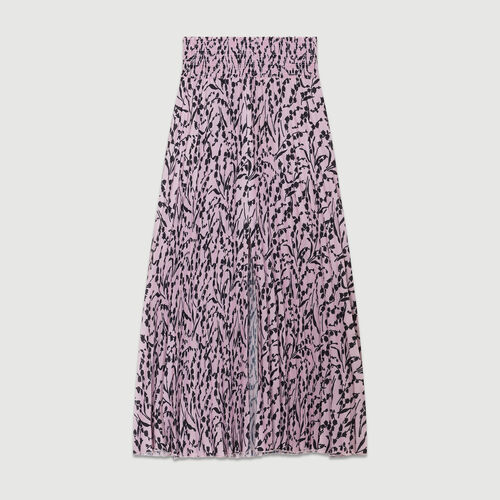 Printed pleated skirt : Skirts & Shorts color PRINTED