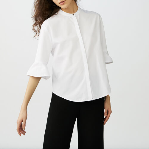 Poplin top : Tops & T-Shirts color White