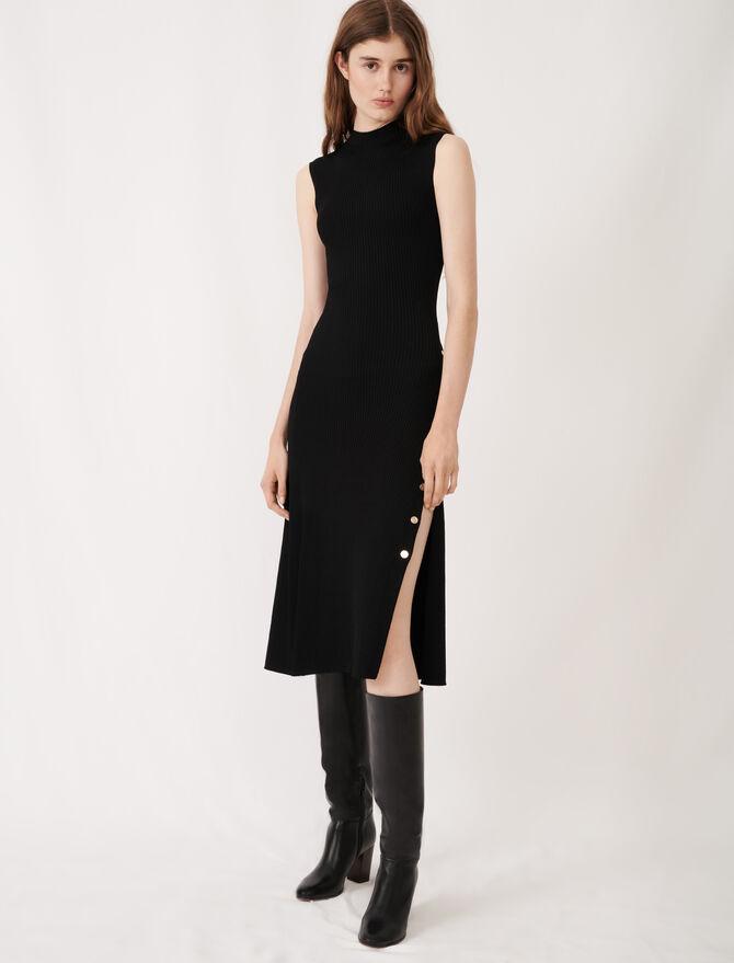 Stretch knit slit dress - Dresses - MAJE