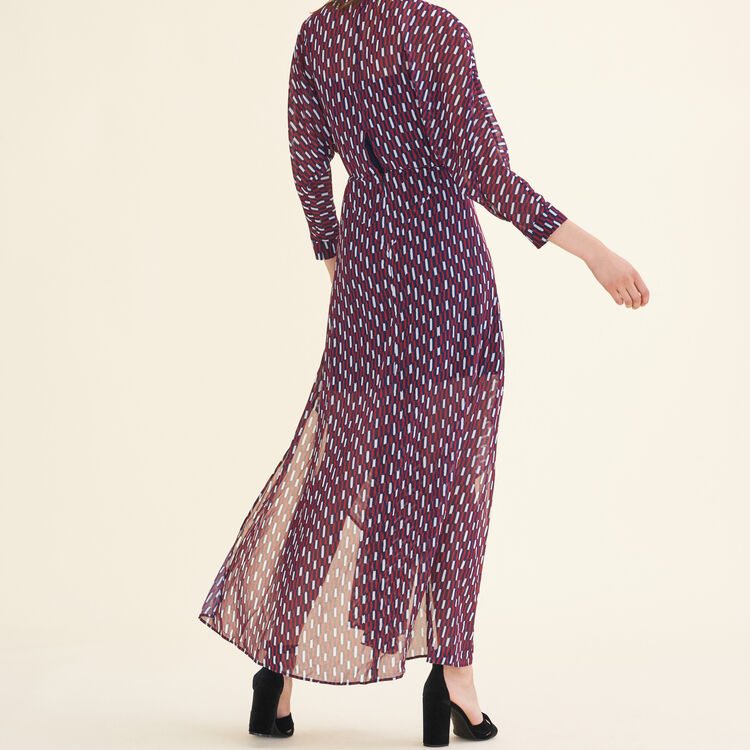 Long dress with graphic print : Dresses color PRINTED