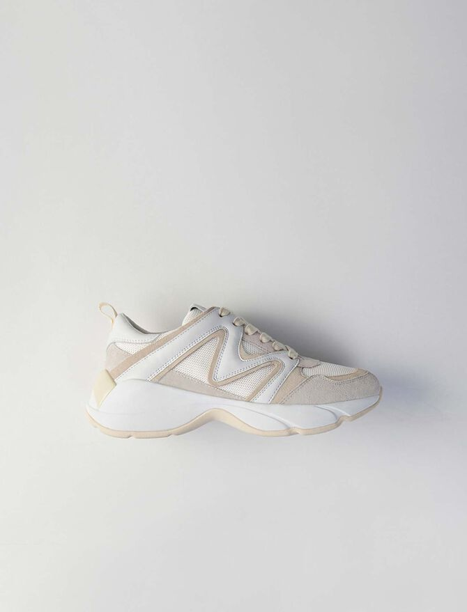 W22 mixed material sneakers - Shoes - MAJE