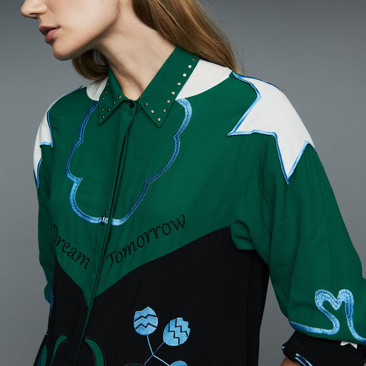 Multicolored embroidered shirt : Tops & T-Shirts color Multico