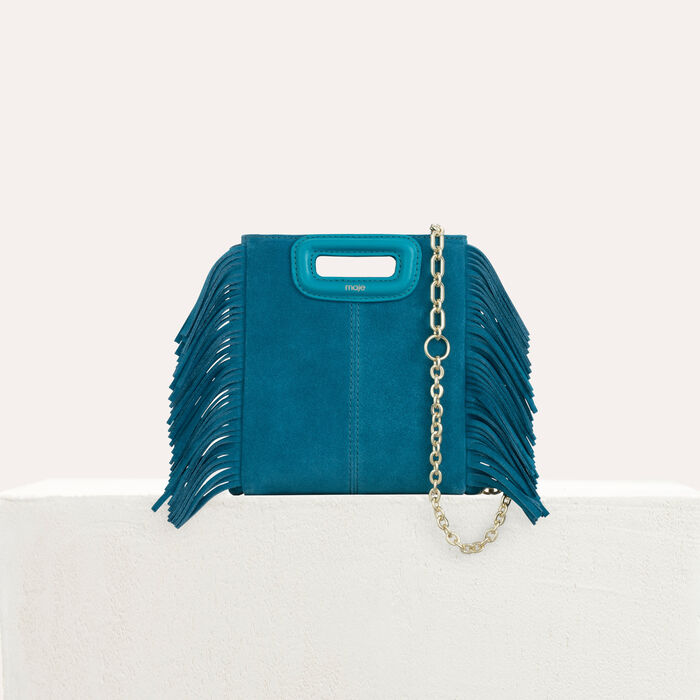 Mini M bag in suede with chain : M Mini color Green