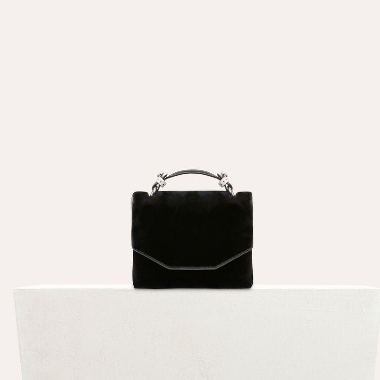 Faux-fur evening handbag : Shoes & Accessories color Black 210