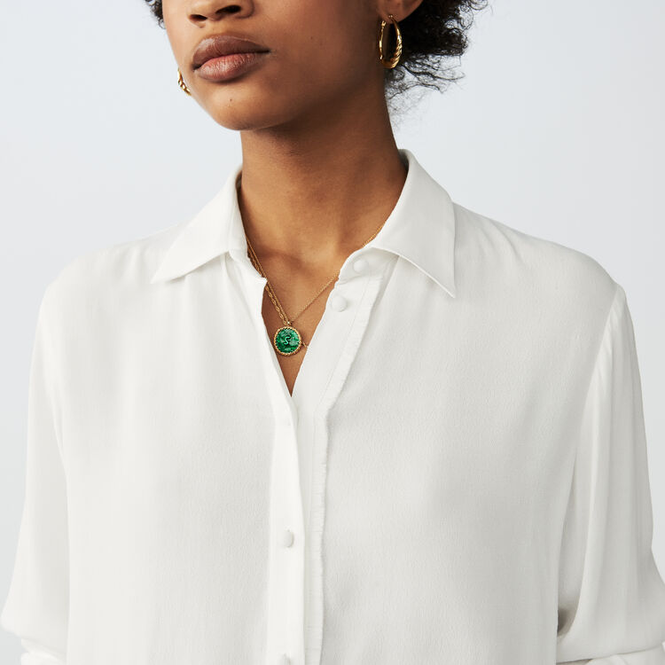 Flowing long-sleeved shirt : Tops & Shirts color Ecru