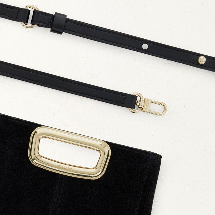 M Mini Skin bag in suede : The Essentials color Black 210