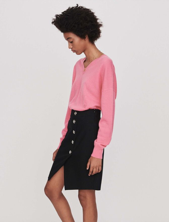 Pencil skirt with buttons -  - MAJE