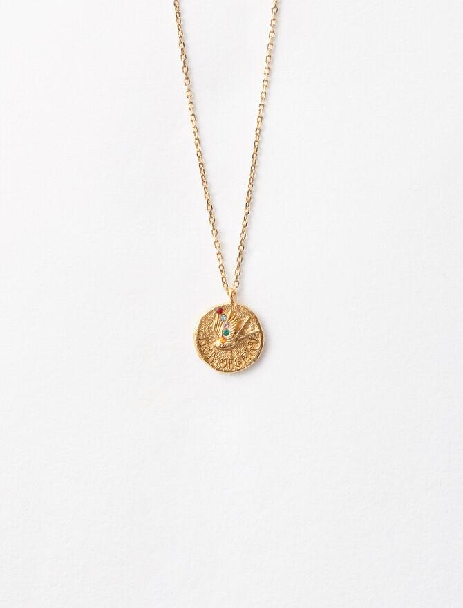 "Necklace with medallion ""Mon oiseau"" -  - MAJE"